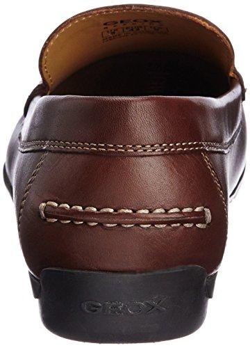 Geox U SIMON A - Mocasines de lona hombre marrón - Braun (DK BROWN C6006)