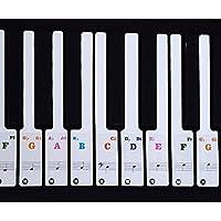 Pegatinas de notas musicales para piano y teclado