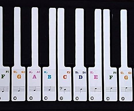 Pegatinas de notas musicales para piano y teclado para teclas ...