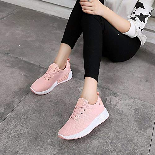 Pink Zapatos Heel ZHZNVX Mujer Blanco de Fall Rosa Comfort Negro Flat Round Sneakers Tulle Toe 6nTp8Zq