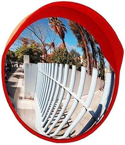 MIRROR Weitwinkelobjektiv für den Straßenverkehr, Sicherheitskonvexspiegel, runder Außenspiegel, Totwinkelspiegel für Einfahrten, Geschäfte und Büros,45cm