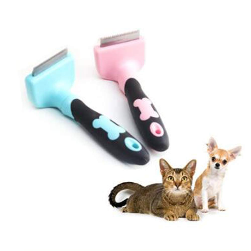 WYQWAN Dog Deshedding Brush Pet Grooming Tool Fur Undercoat Rake Comb for Dogs Cats Pets with Deshedding Tool Pet Grooming Brush Knots Mats Tangle Short to Long Hair(2pcs)