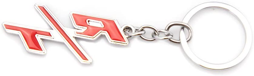 KKY Best R//T Emblem Keychain RT Key Chain Fob Ring for Chrysler Chevrolet Camaro Red with Silver outlinee
