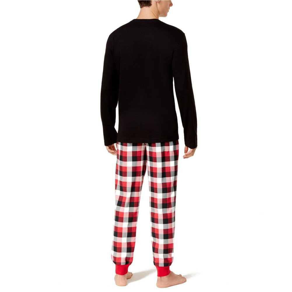 48a7581f39 Amazon.com  EFINNY Matching Family Christmas Pajama Sets Plaid Lounge Wear  Sleepwear For Mom Dad Baby Kids  Clothing