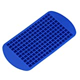 160 Squares Practical Small Ice Cube Tray Ice Grid Soft Silicone Ice Cube Maker(Blue)
