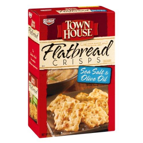 - Keebler Town House Sea Salt & Olive Oil Flatbread Crisps Crackers