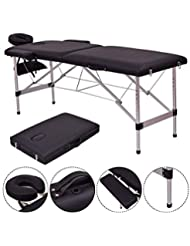 Safeplus 84'' L Folding Massage Table Massage Bed Professional Spa Bed Carry Case Portable Facial Salon Tattoo Bed