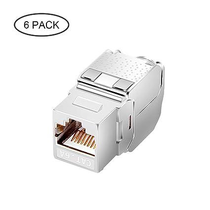 Awesome Amazon Com Cat6A Rj45 Keystone Jack Ul Listed Shielded Tool Less Wiring Digital Resources Honesemecshebarightsorg