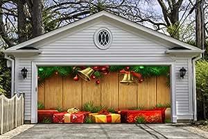 Amazon Com Christmas Garage Door Decor Double Garage Door