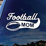 "Football Mom Car Window Vinyl Decal Sticker 5"" Wide"