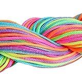 Nylon cord - SODIAL(R)30 Metres Wire Nylon Cord 1mm jewelry Shamballa Tibetan bracelet (rainbow color)