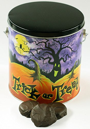 Scott's Cakes Dark Chocolate Covered Peanut Butter Oreos in a Halloween Pumpkin Patch Pail -