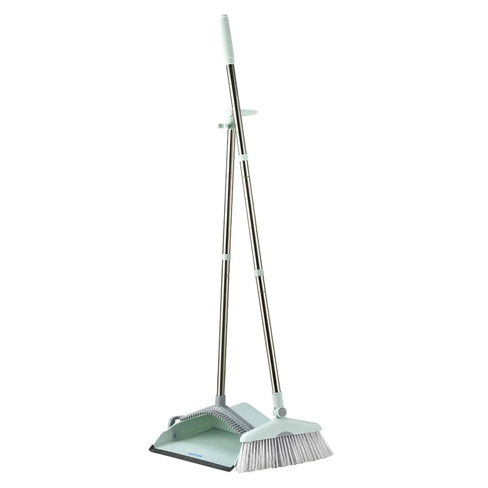 Dust Pan Sweep Set and Broom/Dustpan Cleans Broom Combo with Long Handle Broom Organizer for Home Kitchen Room Office Lobby Floor Use Upright Stand up Dustpan Broom Set by YOUSHANGJIA (Image #2)