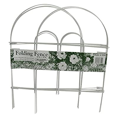 Glamos Folding Metal Wire Garden Fence, 18-Inch by 10-Foot