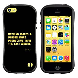 LASTONE PHONE CASE / Suave Silicona Caso Carcasa de Caucho Funda para Apple Iphone 5C / Motivational Productive Funny Quote