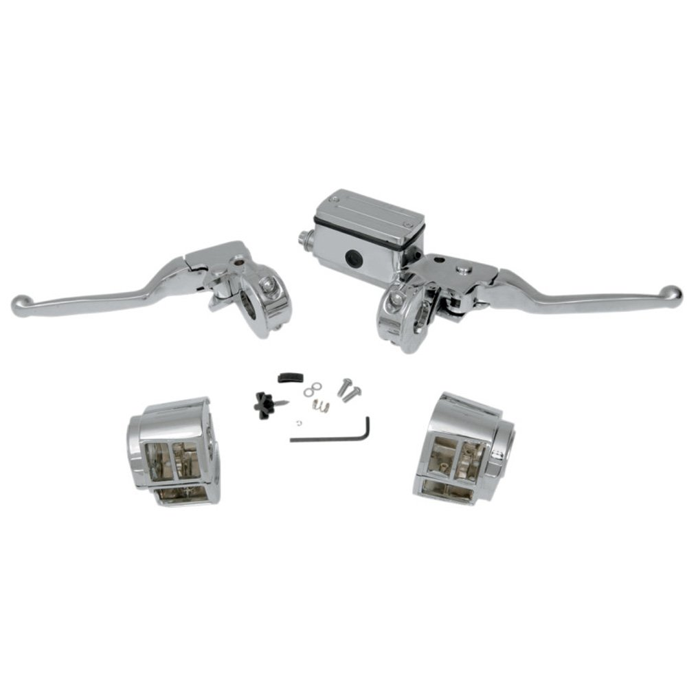 Lovely Chrome Handlebar Controls With Switch Housings For 1990 1995 Harley Davidson Dyna Softail