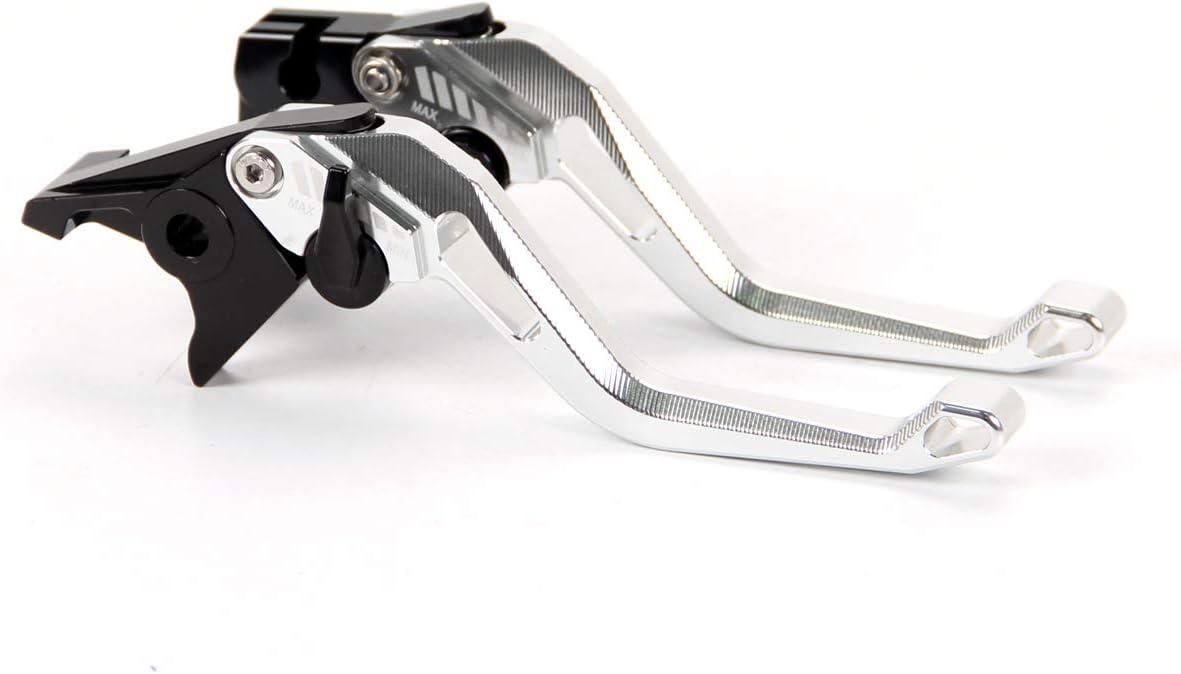 Auzkong Short Brake Clutch Adjustable Levers for HONDA CBR125R CBR150R 2004-2016 2015 2014 2013 Silver