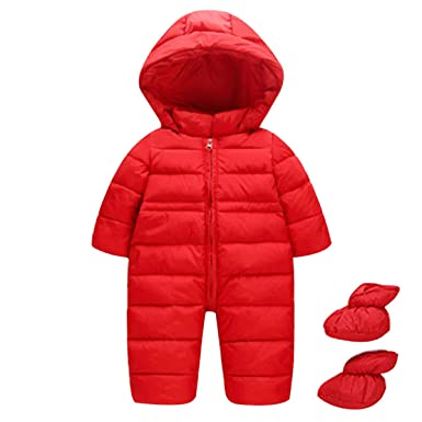3e1824449 Amazon.com  Lemohome Baby Outwear Girls Boys Hooded Winter Thick ...