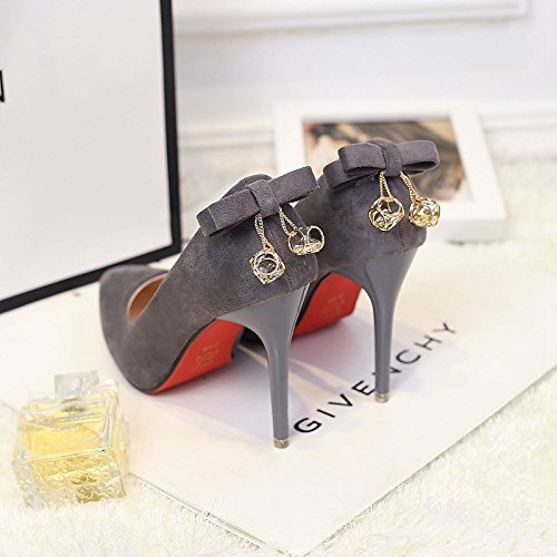 ced7c639 Los zapatos de tacón alto chica fina con la punta de un zapato ligero y  versátil
