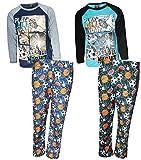 Quad Seven Boys 4-Piece Long Sleeve Pajama Pant Set (2 Full Sets)
