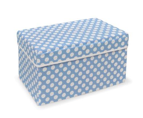 Badger Basket Company Double Folding Storage Seat, Blue (Badger Fabric Basket)