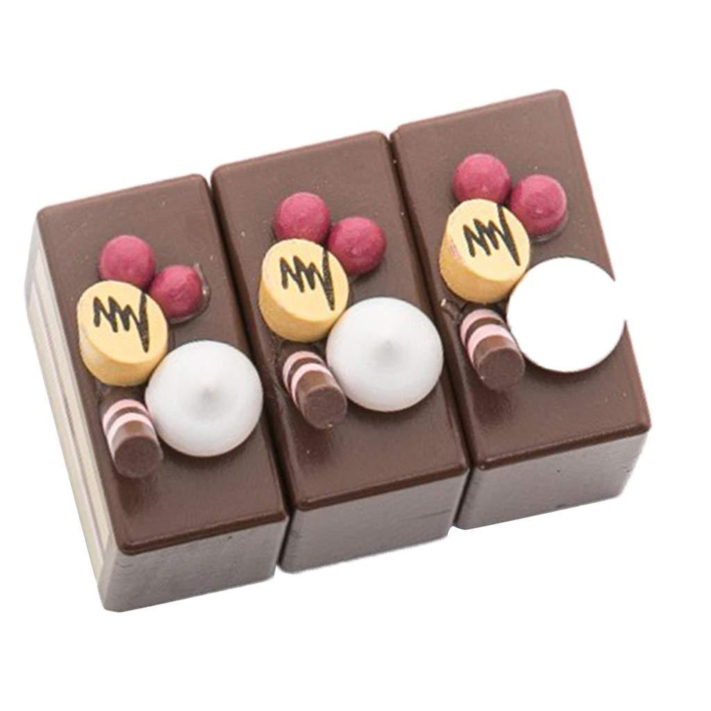 KESOTO Juguete de Corte de Pastel de Chocolate y Fruta ...