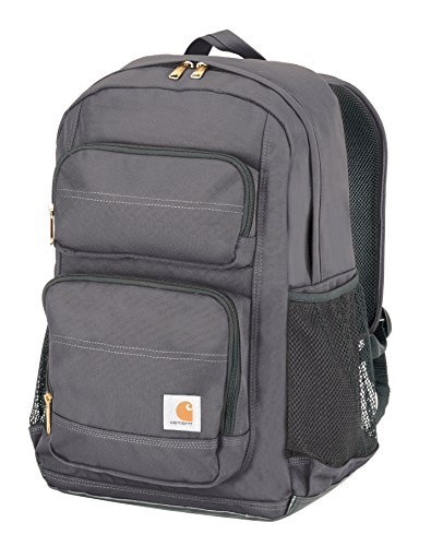 Carhartt Legacy Standard Work Backpack with Padded Laptop Sleeve and Tablet Storage, Grey (Bottom Inch Box Three)