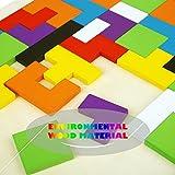 Peradix Colorful Wooden Brain-Teaser Tetris Tangram Jigsaw Puzzle Toy for Preschool Imagination Intellectual Educational (63)