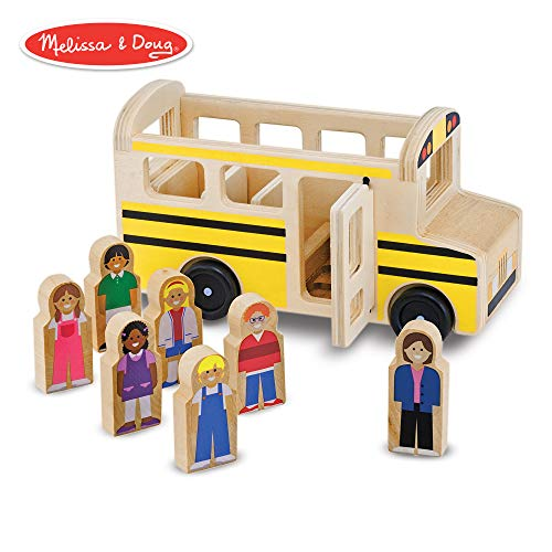 Toys Play Cars Classic (Melissa & Doug Wooden School Bus (Classic Toy Play Set, 7 Play Figures))