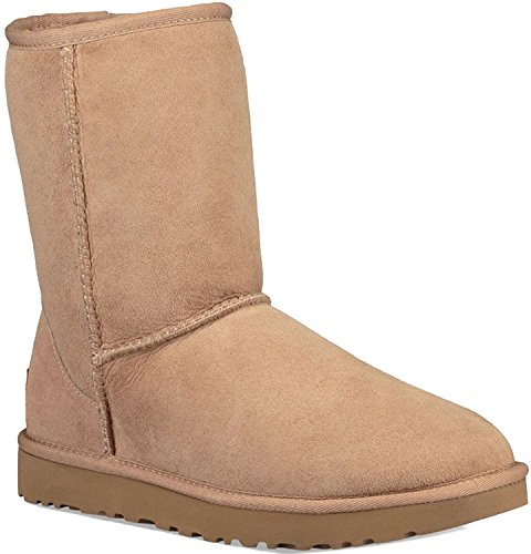 UGG Women's, Classic Short II Boot Fawn 5 M Light Brown -