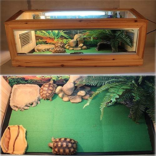2Pcs Reptile Carpet Terrarium Bedding Substrate Liner Carpet for Lizard, Turtles, Snakes, Bearded Dragon, Iguana Supplies Mat
