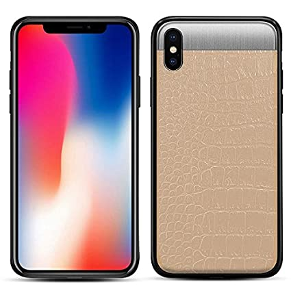 Amazon.com: iPhone X funda Goonk costuras de piel de ...