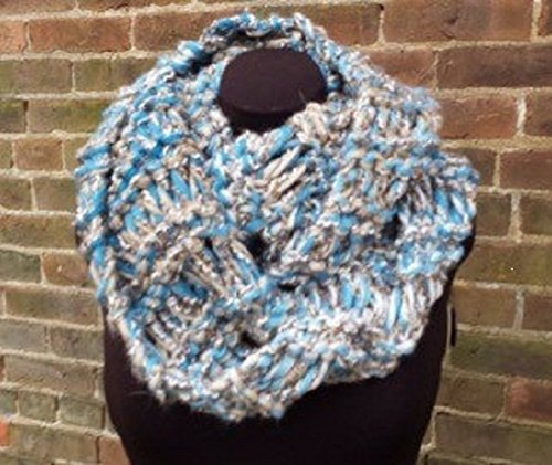 Amazon Turquoise And Tan Infinity Scarf Chunky Infinity Scarf