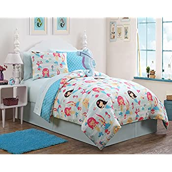 Favorite Amazon.com: 7 pc Girls Mermaid, Twin Bedding, Comforter Set, by  RL58