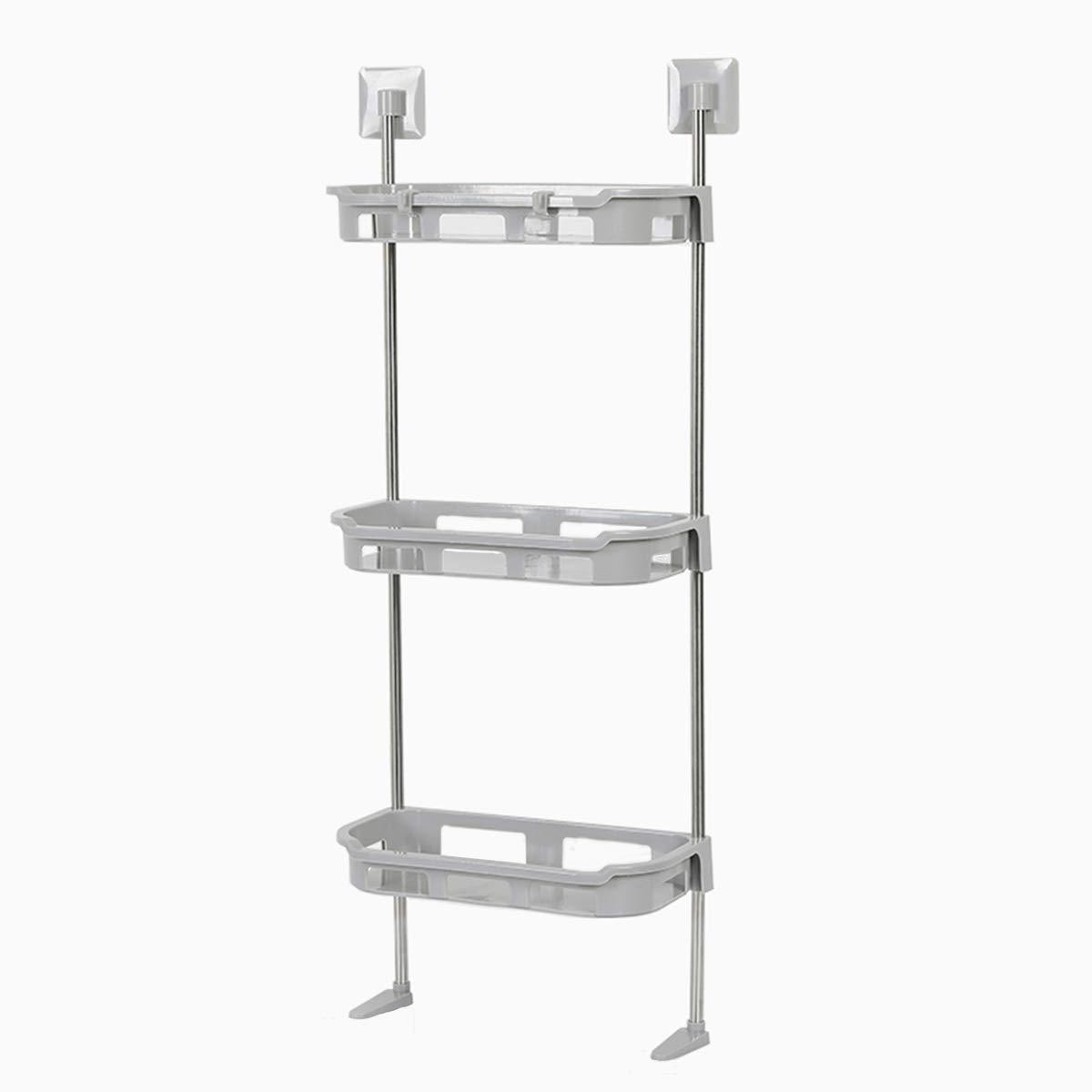 Lovfri Bathroom Storage Shelf, 3-Shelf Bathroom Organizer Over The Toilet, Space Saver for Bathroom, Kitchen, Laundry Room, No Drilling, Easy to Assemble(11.8x34.6 inch) by Lovfri