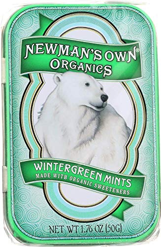 Newman's Own Organics Mints, Wintergreen, 1.76-Ounce Tins (Pack of 6)
