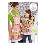KWIK-SEW PATTERNS K0136OSZ Misses'/Girls'/Dolls' Aprons Sewing Template, All Sizes