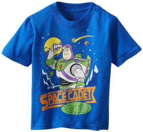 Disney Little Boys' Toddler Buzz Light Year Space Cadet Toddler T-Shirt, Royal, 2T (Baby Buzz Lightyear)