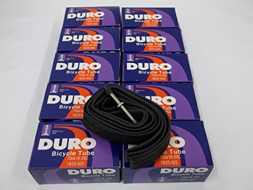 Duro 10 Tubes 700 x 18-25C Road/Fixie bike Inner tubes 60 mm Presta Valve 60MM by Duro