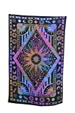 Burning Sun Tapestry Sun Moon Planet Tapestries Hippie Gypsy Tie Dye Celestial Wall Hanging Twin Psychedelic Bedspread Dorm Bohemian Ethnic Decorative Art Divine Beach Coverlet Curtain Tablecloth