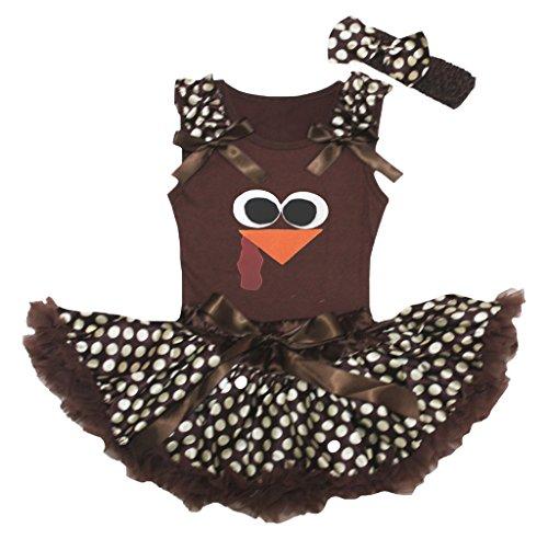 brown and beige polka dot dress - 8