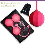 Boliva Kegel Ball Set 3PC Ben Wa Ball - Silicone Exercise Weights Kit for Women - Bladder Control & Pelvic Floor Exerciser Strengthen Tighten Beginners & Advanced