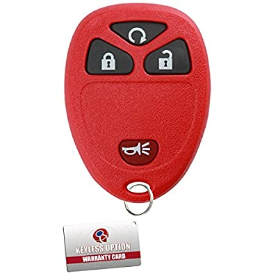 KeylessOption Keyless Entry Remote Control Car Key Fob Replacement For 15913421 -Red: Automotive