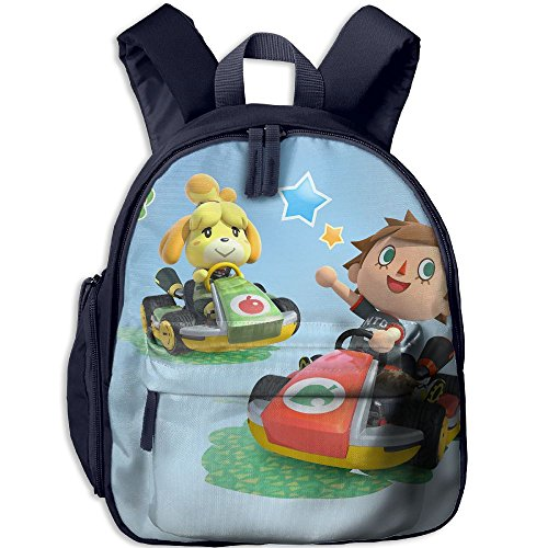 American Crossings Computer (Animal-crossing Functional Design For Students School Backpack Children Bookbag Perfect For Transporting For School In 4 Season Navy)
