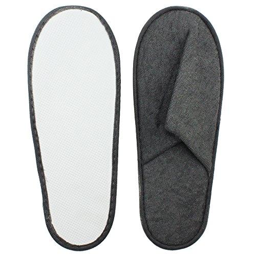 COM de Four® 6pares Rizo Zapatillas con suela de goma espuma antideslizante en tamaño 40/41, en gris