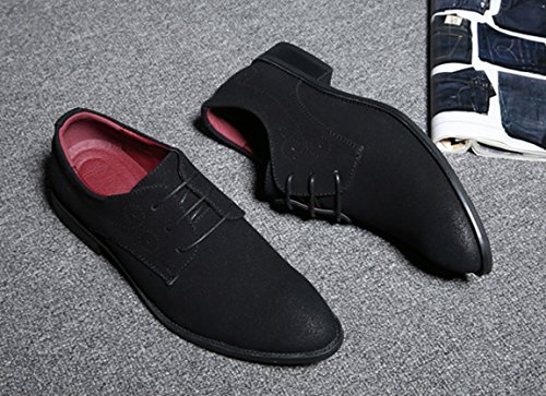 Pelle casuale Grande Inghilterra stile Uomini scamosciato Bebete5858 scarpe 48 particolarmente Extra Nero Dimensione PU Uomo Simple 1wvqA8xqR