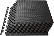 "ProSource Puzzle Exercise Mat 13 mm (½""), EVA Foam Interlocking Tiles Protective Flooring for Gym Equipment an"