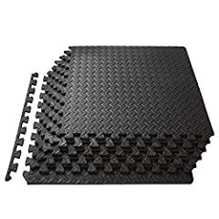 The ProSource Exercise Puzzle Mat creates a comfortable, durable surface for workouts and exercise equipment while protecting your floors. Dense EVA foam absorbs impact and noise during workouts and provides a soft surface for exercises like ...