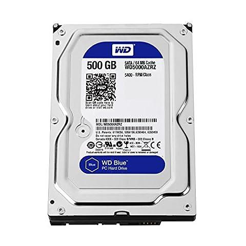 WD Blue 500GB Desktop Hard Disk Drive - 5400 RPM SATA 6 Gb/s 64MB Cache 3.5 Inch - WD5000AZRZ (320gb Laptop Hard Drive Sata)