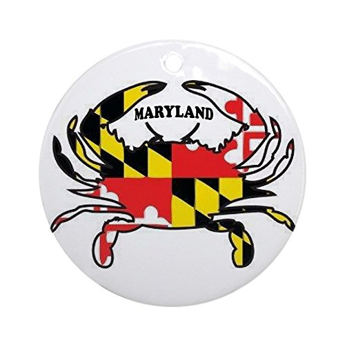 CafePress Maryland Crab Ornament (Round) Round Holiday Christmas Ornament -